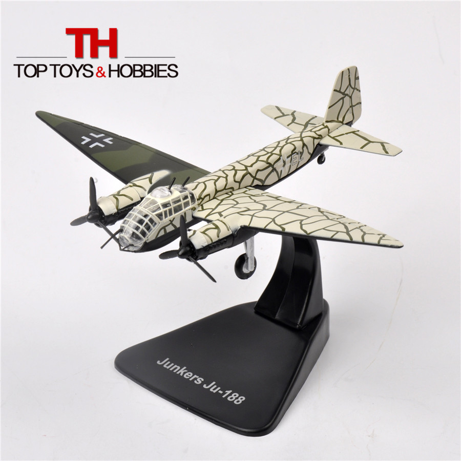 1/144 Atlas WW2 German JUNKERS ju -188 Bomber Model Collectible Airplane Diecast Millitary Fighters Alloy Aircraft Gift Toys(China (Mainland))