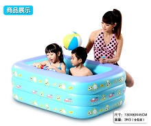 Specials home baby inflatable swimming pool 130x80x45 square padded PVC(China (Mainland))