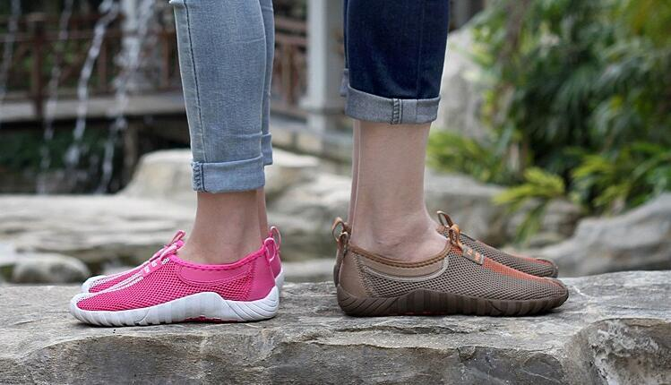 2016 Spring fashion net surface silp on couples flat round toe low casual cloth loafer shoes women shoes