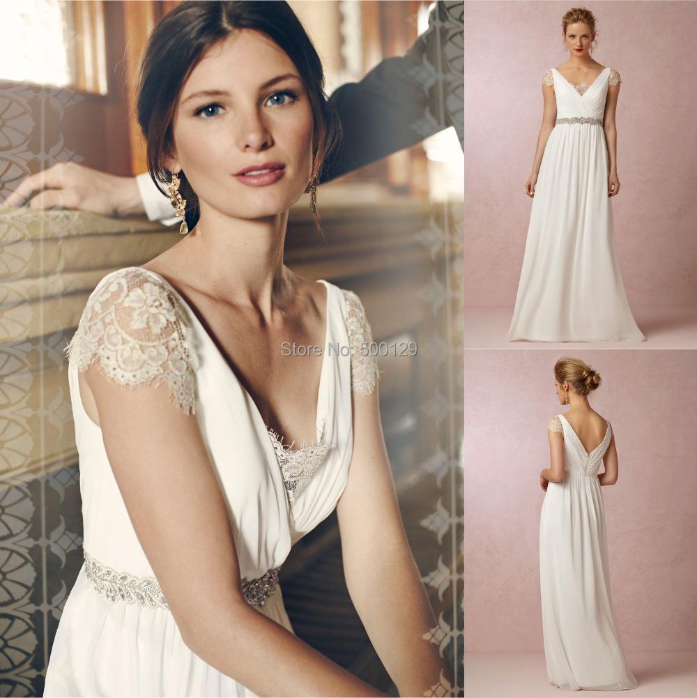 ivory lace bohemian wedding dress boho lace beach wedding dresses zoom