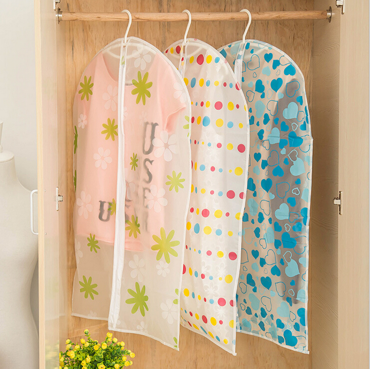 1PCS Thickened Translucent suits Dust, coats dust bag, clothing dust cover, hanging clothes pouch(China (Mainland))