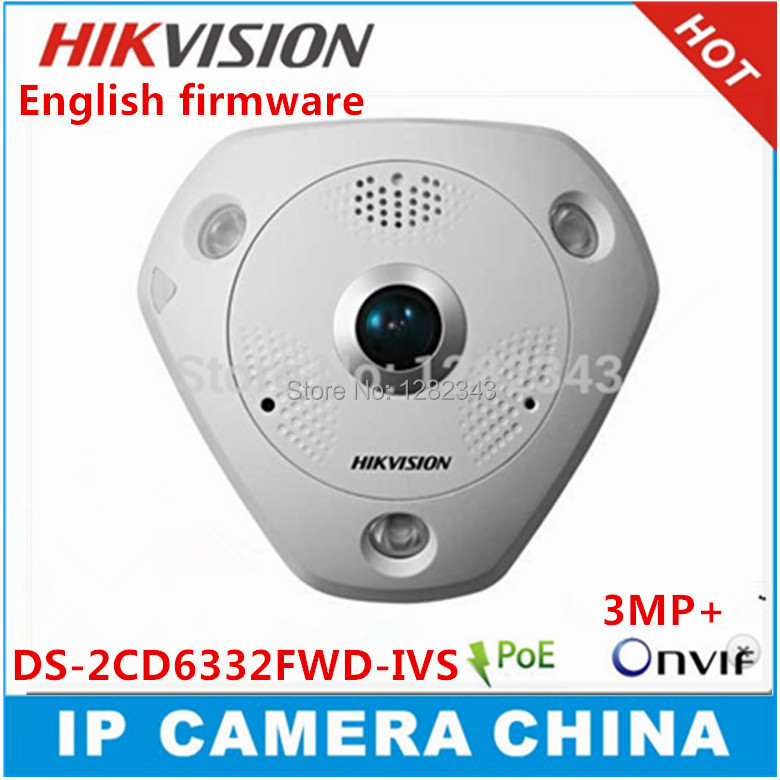 HIKVISION DS-2CD6332FWD-I 3MP Full HD 1080P PoE WDR Panorama 360 Degree Fisheye e-PTZ Dome Network IP Camera Micro SD Memory(China (Mainland))