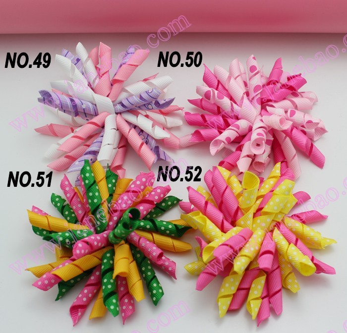 free shipping 100pcs 3.5 inches korker bows (SEW ONES) to mix hundreds of color korker hair bow colorful(China (Mainland))