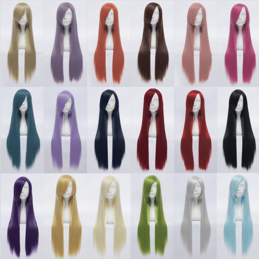 80 cm/ 32 '' Good Synthetic Long Straight Cosplay Wig Female Women Dancy Party Costume Hair Wigs Perruque Pelucas Cosplay