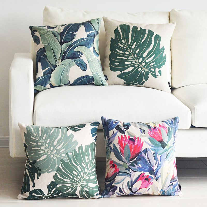 Free shipping Rainforest Art Home Pillow Decoration high-grade and cozy Decorative Cushion Covers creative stylish Sofa Cover