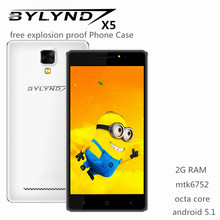 """Bylynd X5 mtk6752 cell android 5.1 octa core smartphones 2G ram Fill light 8.0mp 5.0"""" 4G LTE FDD unlocked China mobile phones(China (Mainland))"""