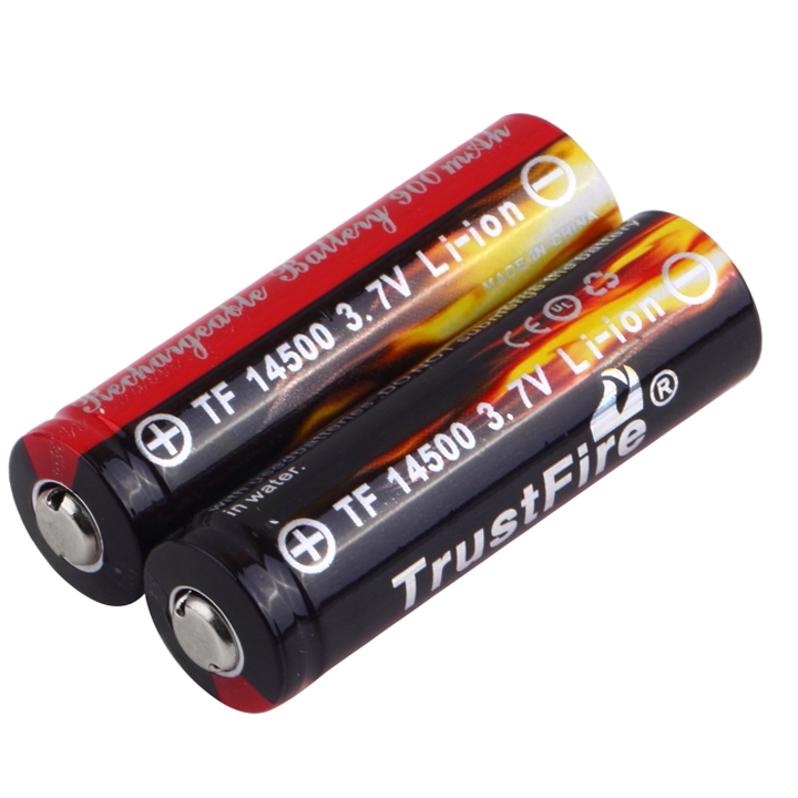 2pcs Trustfire AA 14500 900mAh 3.7V Li-ion Rechargeable Battery New Free Shipping WholesaleHot New Arrival<br><br>Aliexpress