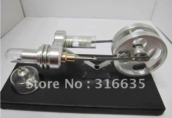 BRAND NEW TWIN FLYWHEELS HOT AIR STIRLING ENGINE 1500 RPM STIRLINGMOTOR NO STEAM/ Victory model/QX-SL-09(China (Mainland))