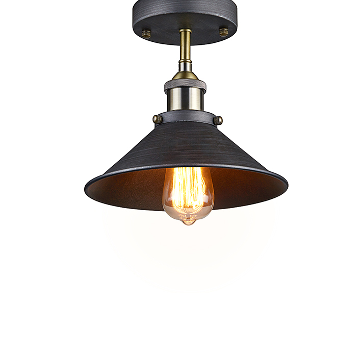 Vintage American Light Industrial Edison Pendant Lamp Wrought Iron Lampshade RH Loft Coffee Bar Kitchen Home Lighting - Ecopower Technology (GuangZhou storeCO.,Ltd)