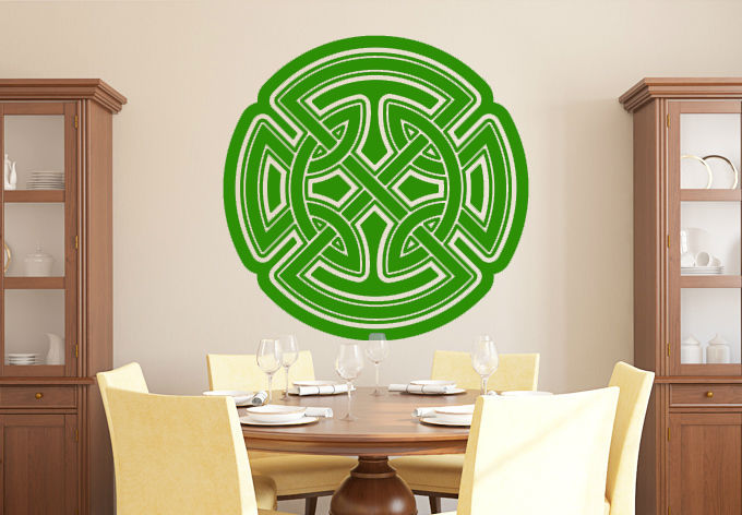 Celtic Knot Pattern Wall Decal Stickers Letters Vinyl Wallpaper China Wholesale New Product For Home Decoration(China (Mainland))
