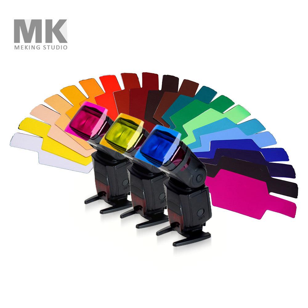 MK FLash/Speedlite/Speedlight Color Gels Filter 20pc Gels-Band Universal lighting filter Free shipping<br><br>Aliexpress