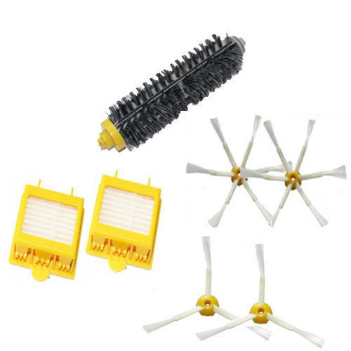 Bristle Brush 3-Armed / 6-Armed Side Brush Bristle Brush 3 6 arm & Filters for iRobot Roomba Vacuum 700 series 770 780 760(China (Mainland))