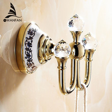 Free Shipping Crystal Robe Hook,Clothes Hook Brass Chrome Finish,Bathroom Hardware Robe Hooks,Bathroom Accessories 6306(China (Mainland))