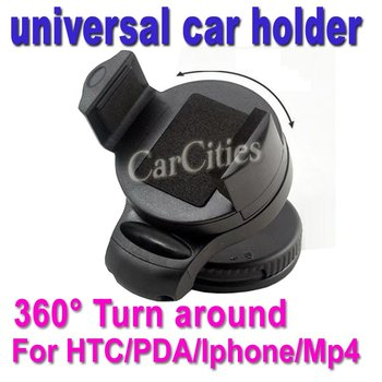 Mobile phone universal mini car holder,360 degree turn around for HTC EVO/PDA/GPS/Iphone/Mp4,free shipping&high quality