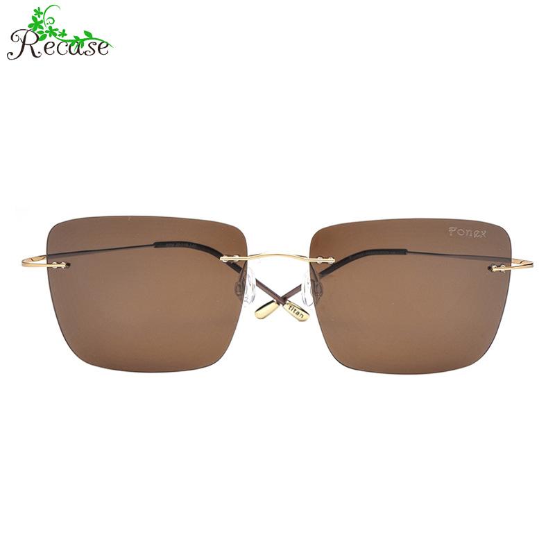FONEX 2016 New Square Polarized Sunglasses Women Ultralight Titanium Frame Rimless UV400 Polaroid Lens Sun Glasses SG-25(China (Mainland))