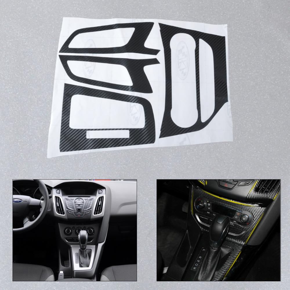 Car carbon sticker design - New Car Interior Center Console Carbon Fiber Molding Sticker Decal For 2012 2013 Ford Focus