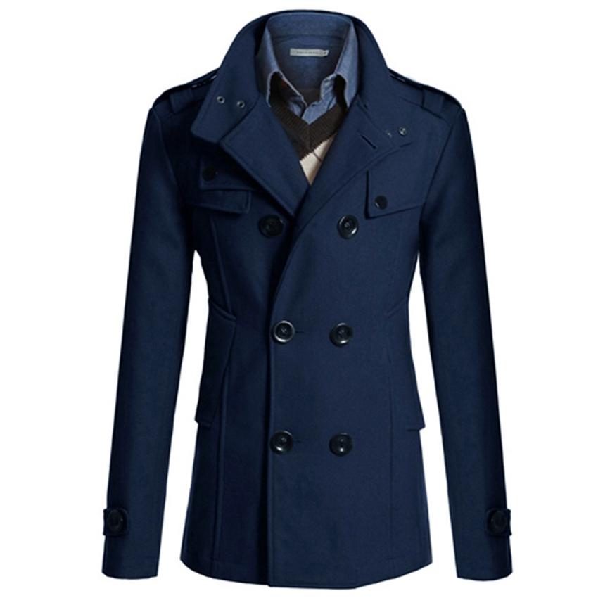 Paul Jones Casacos De Inverno Feminino Couro 2015 Korean Men Slim Double Breasted Wool Blends Trench Coat Winter Plus Size 4688Одежда и ак�е��уары<br><br><br>Aliexpress