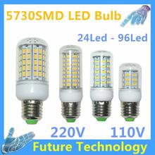 Smd 5730 g9 lampada ha condotto la lampada e27 220 v luz b22 lamparas bombillas led lampadina e14 110 v b22 del cereale della lampadina led gu10 riflettore candela(China (Mainland))