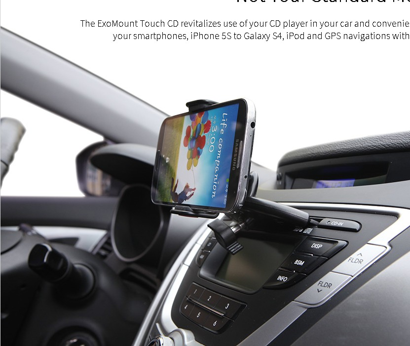 Exogear car mobile phone holder cd for SAMSUNG for apple iphone5 5s i9500 note3(China (Mainland))