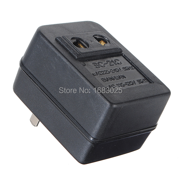 Hot Sale 50W Watts US Japan Canada Brazil For AC Power 220V to 110V Voltage Converter Adapter Travel Transformer(China (Mainland))