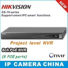 Hikvision NVR 8CH DS-7608N-E2/8P Plug & Play 8CH PoE Up to 6MP  Onvif  Project  level  Network video recorder(China (Mainland))