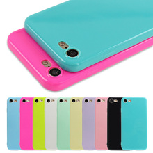 Fashion Candy Color Jelly Soft TPU Silicone Shockproof Case for iphone 7 6S 6 Cell Phone Protective Cover For iphone 7 6 6s Plus(China (Mainland))