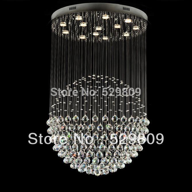 free shipping modern large lustre decorative chandelier ball design lustre de cristal home. Black Bedroom Furniture Sets. Home Design Ideas