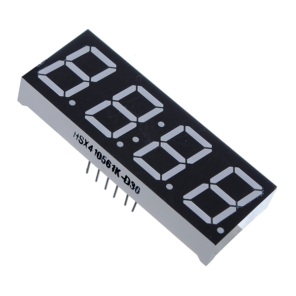 Best Price 0.56 Inch 7 Segment 4 Digit Super Red Clock LED Display Common Anode Time 12 Pins for DIY(China (Mainland))