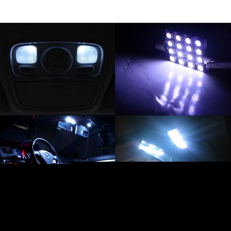 10pcs Ultra Bright 41mm 3528/1210 16 SMD Led Car Dome Festoon Interior Light Bulbs Auto Roof #10xfestoondome16SMD(China (Mainland))