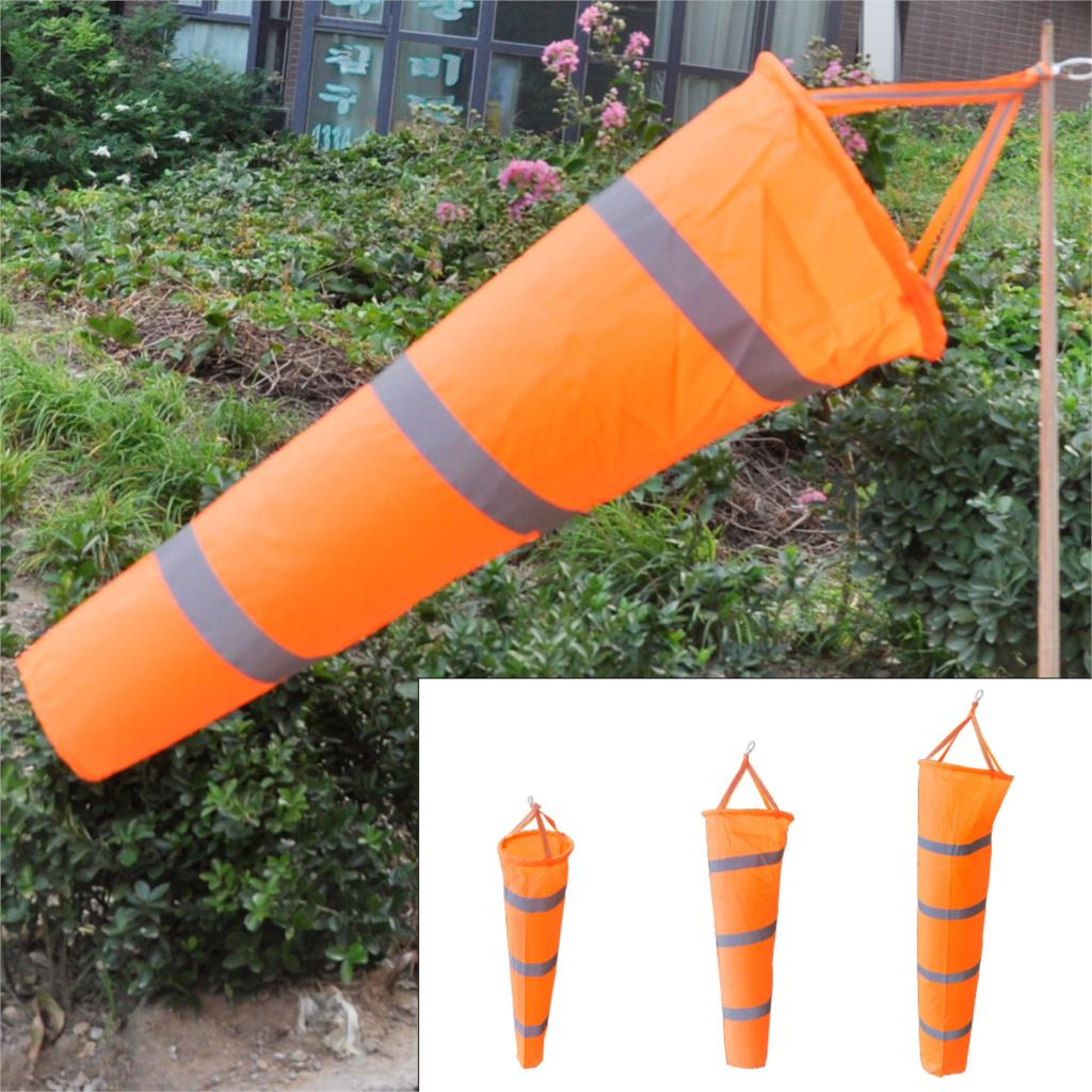 """New Nylon 60"""" Airport Windsock Rip-stop Outdoor Wind Measurement Sock Bag + Reflective Belt for Chemical Industry(China (Mainland))"""