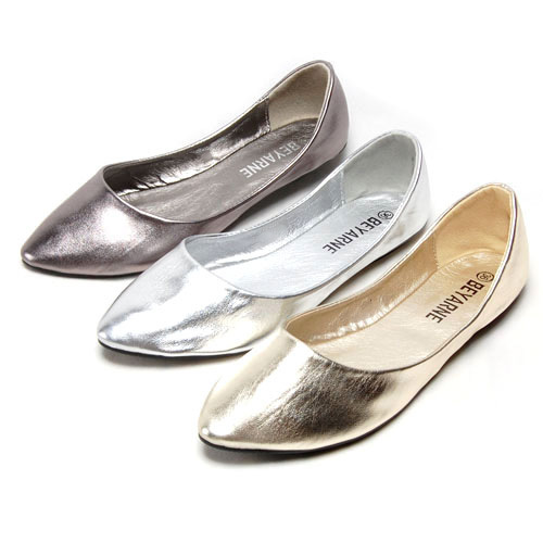 [해외]Large size 35-46,brand shiny soft leather womens ball..
