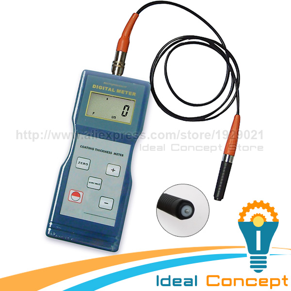 Coating Thickness Gauge F Type Magnetic Induction 1m Probe Paint Enamel Copper(China (Mainland))