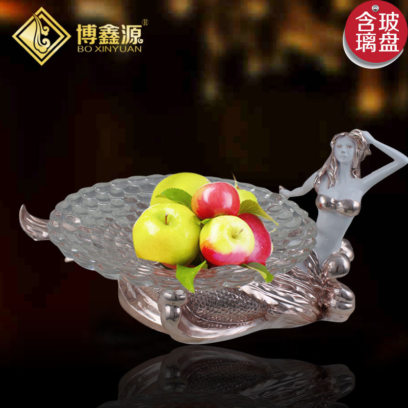 Factory direct creative European home resin plating mermaid practical fruit plate fruit plate fashion KTV club<br><br>Aliexpress