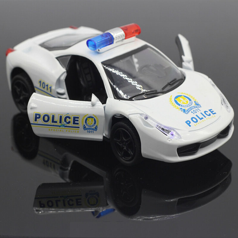 Music & flash 1:32 Diecast Alloy car model toy metal material vehicles Policy car metal model modellini auto C1018(China (Mainland))