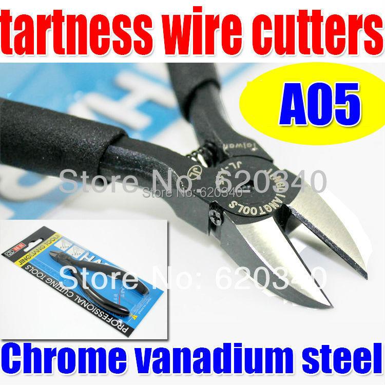 Free shipping high quality 100% JINGLIANG electronic copper wire shears cutter model pliers diagonal cutting pliers CR-V(China (Mainland))