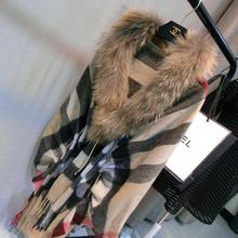 2016 New Fashion Winter Coat Women Genuine Natural Fox Fur Collar Coats Long Sweater Real Fur Jacket Female Overcoat Mex Mink
