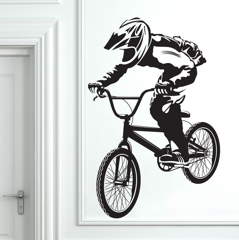 bmx stickers muraux promotion achetez des bmx stickers popular bicycle wall decal buy cheap bicycle wall decal