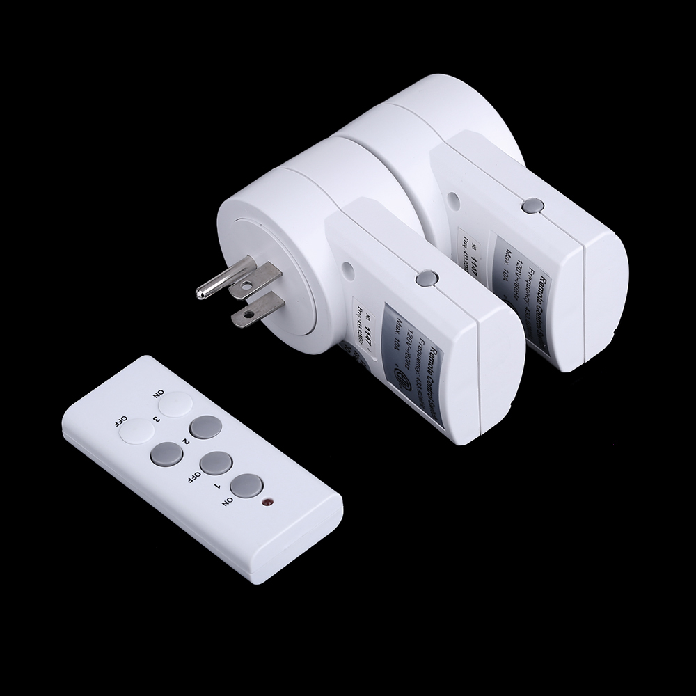 120v 230v 2 pack wireless remote control power outlet plug. Black Bedroom Furniture Sets. Home Design Ideas