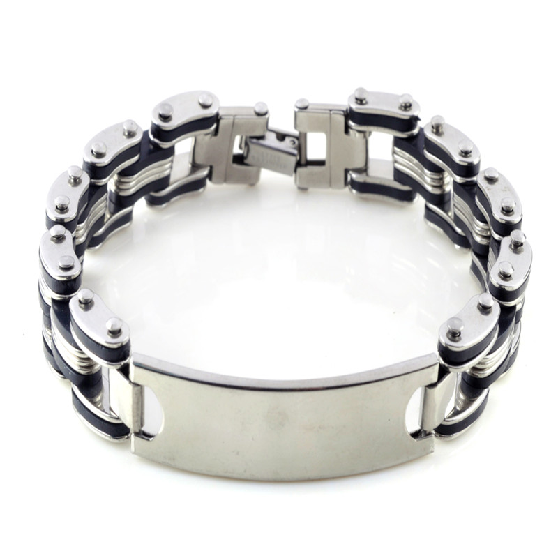 motorcycle chain bracelet bangle 316l stainless steel