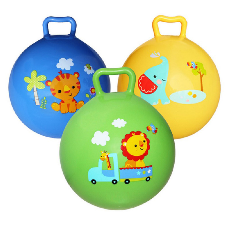 1pc Inflatable Bouncing Ball Sport Toy Colorful Cartoon Animal Educational Toy Ball for Baby Ball Toy(China (Mainland))