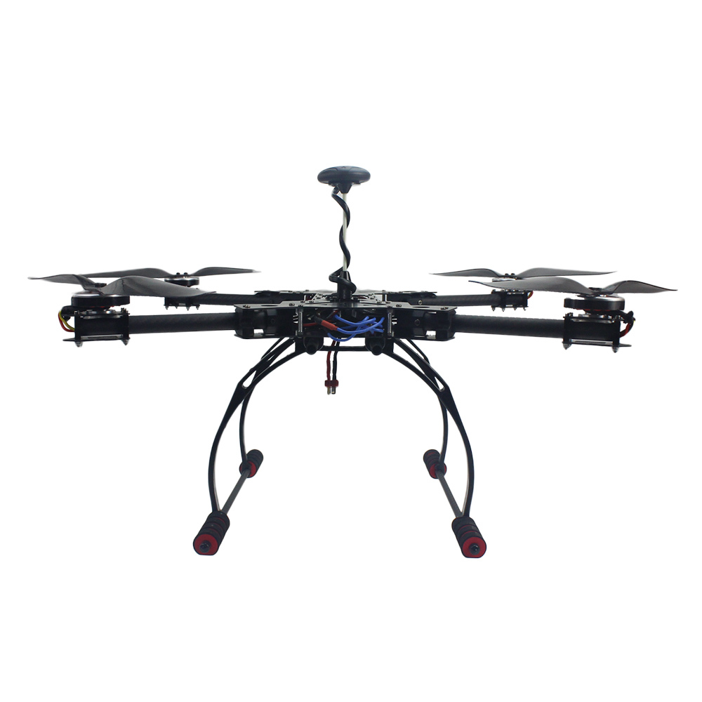 F11101-E RC Full RTF Hexacopter GPS Drone HMF600 Carbon Fiber Foldable H-Shaped Quadcopter APM2.8 with Motor ESC AT10 TX&RX(China (Mainland))