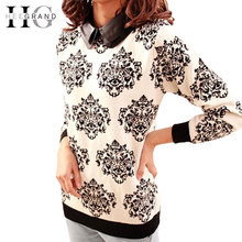Women Sweater Winter&Autumn New Casual Floral Slim Tricotado Knitted Pullover Blusas Femininas Inverno Pull Femme WZY003(China (Mainland))