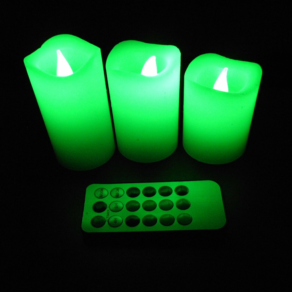3d moving flame flameless remote control flickering led candles on. Black Bedroom Furniture Sets. Home Design Ideas