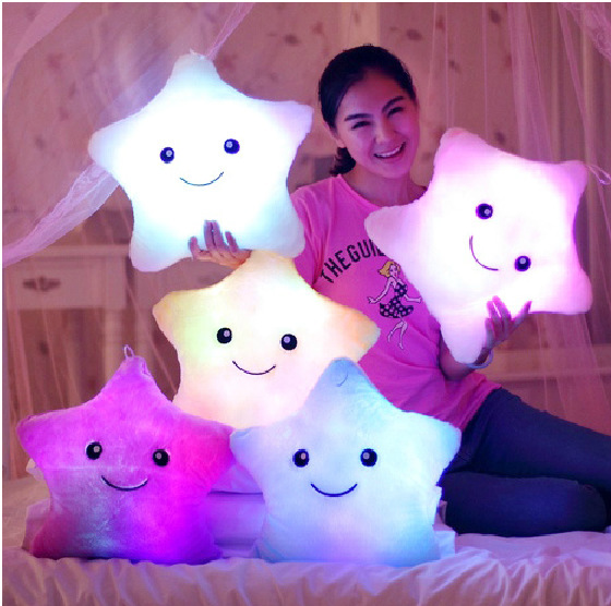 Colorful musical light-emitting pillow creative 35cm luminous plush doll Valentine birthday gift plush toy doll plush doll(China (Mainland))