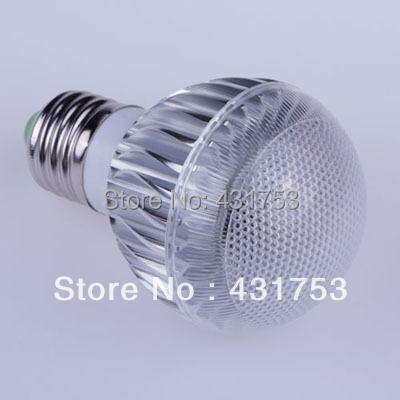 2014 Sale Led Light (high Power)1pcs- E27 Led Lamp Ac85-265v /ac Bulb with Remote Control Multiple Colour Lighting Free Shipping