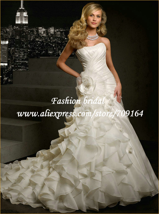 Free shipping best selling 100 guarantee strapless for Sell wedding dress for free
