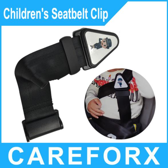 free shipping Black Car seat belt /Bus Truck Automobile Child safety belt Strap Seatbelt Clip Oxford cloth Whloesale+Retail(China (Mainland))
