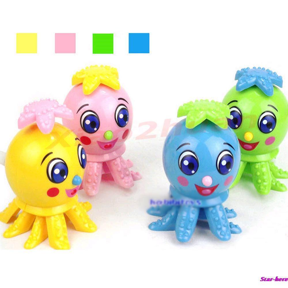 5Pcs/Lot Lovely Funny Octopus Cartoon Animal Wind Up Clockwork Design Toys For Children(China (Mainland))