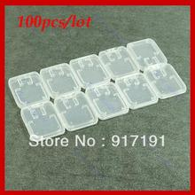 N94   Free Shipping 100PCS/lot New White Plastic Case Box For TF Micro SD Memory Card +Tracking Number(China (Mainland))