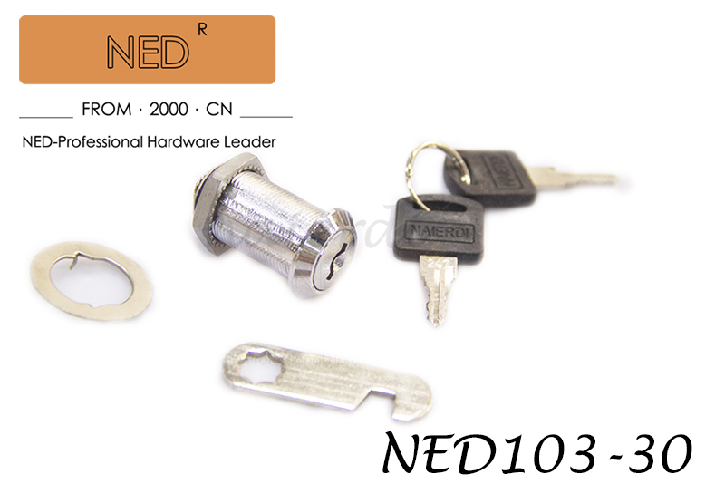 NED103-30 Letter Box Cabinet Locking 19mm Dia 30mm Length Furniture Hardware Thread Cylinder Cam Lock with Keys<br><br>Aliexpress